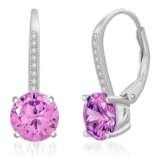 Preload https://img-static.tradesy.com/item/25958105/-925-sterling-silver-pink-sapphire-leverback-earrings-0-0-540-540.jpg