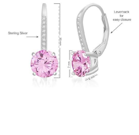 Other PINK SAPPHIRE LEVERBACK EARRINGS Image 3