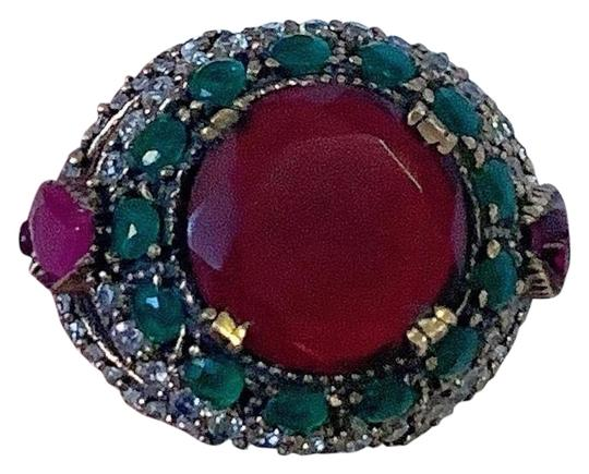 Preload https://img-static.tradesy.com/item/25958126/ruby-emerald-brunch-size-9-solid-925-sterling-silvergold-wow-gems-brilliantly-faceted-roundpear-cut-0-1-540-540.jpg