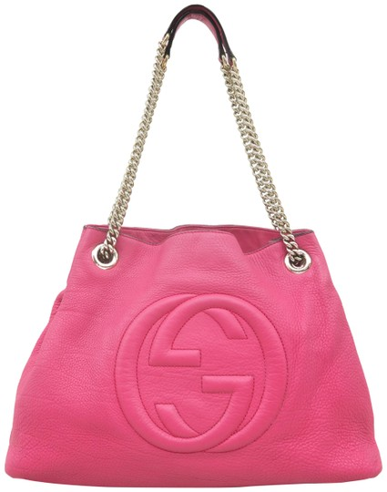 Preload https://img-static.tradesy.com/item/25958127/gucci-soho-chain-violetred-calfskin-shoulder-bag-0-3-540-540.jpg