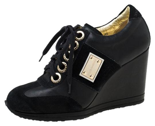 Preload https://img-static.tradesy.com/item/25958134/dolce-and-gabbana-black-leather-and-suede-lace-up-wedge-sneakers-size-eu-35-approx-us-5-regular-m-b-0-1-540-540.jpg
