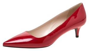 Prada Patent Leather Pointed Toe Red Pumps