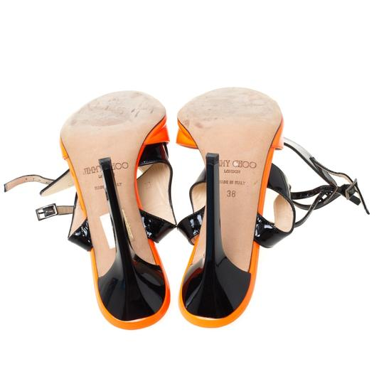 Jimmy Choo Patent Leather Ankle Open Toe Black Sandals Image 6