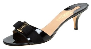 Salvatore Ferragamo Patent Leather Black Sandals
