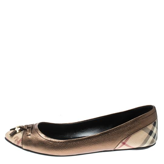 Burberry Bronze Leather Ballet Metallic Sandals Image 1
