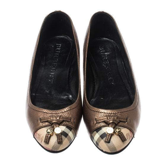 Burberry Bronze Leather Ballet Metallic Sandals Image 2
