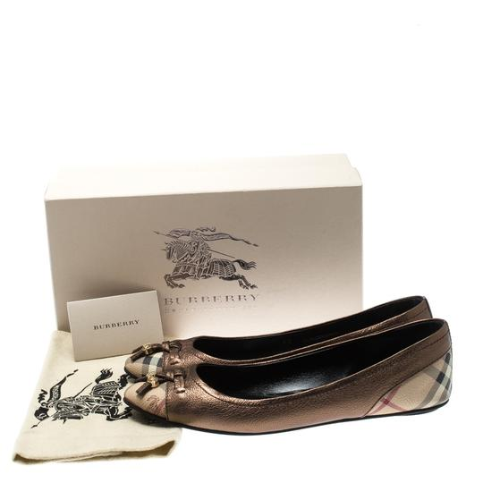 Burberry Bronze Leather Ballet Metallic Sandals Image 7