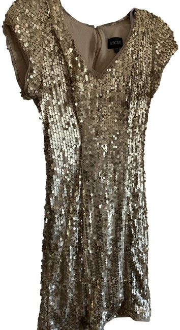 Item - Gold Sequin Mid-length Night Out Dress Size 4 (S)