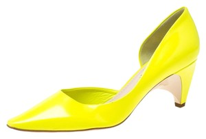 Louis Vuitton Leather Pointed Toe Yellow Pumps