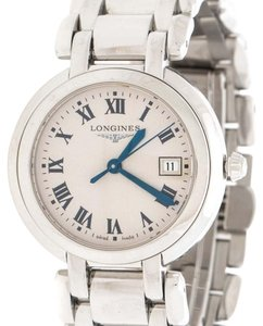 Longines Cream Stainless Steel Primaluna L8.112.4.71.6 Women's Wristwatch 30 mm