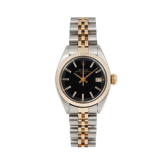 Preload https://img-static.tradesy.com/item/25958663/rolex-black-lady-datejust-6917-26mm-dial-with-two-tone-jubilee-bracele-watch-0-0-540-540.jpg