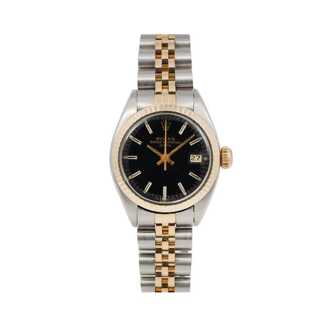 Rolex Black Lady-datejust 6917 26mm Dial with Two Tone Jubilee Bracele Watch Rolex Black Lady-datejust 6917 26mm Dial with Two Tone Jubilee Bracele Watch Image 1