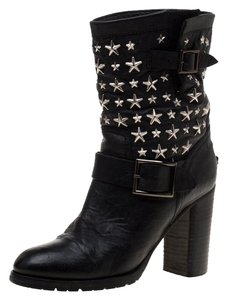 Jimmy Choo Studded Leather Detail Black Boots