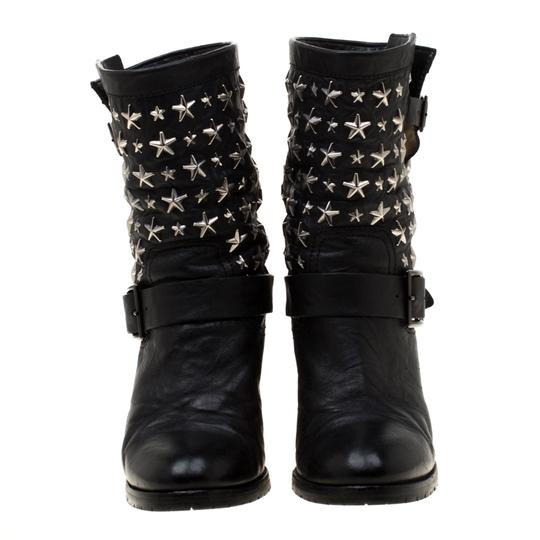 Jimmy Choo Studded Leather Detail Black Boots Image 1