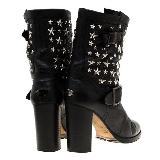 Jimmy Choo Studded Leather Detail Black Boots Image 2