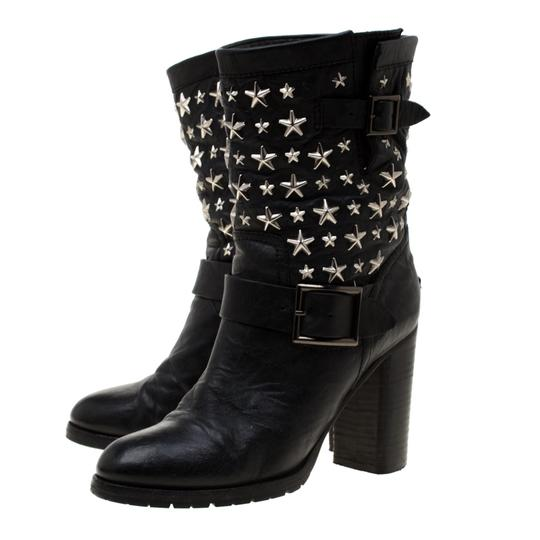 Jimmy Choo Studded Leather Detail Black Boots Image 3