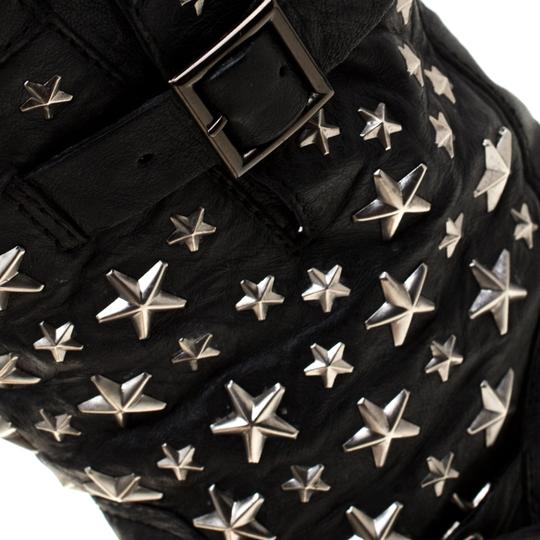 Jimmy Choo Studded Leather Detail Black Boots Image 5