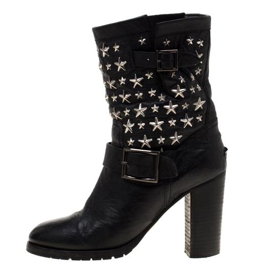 Jimmy Choo Studded Leather Detail Black Boots Image 6