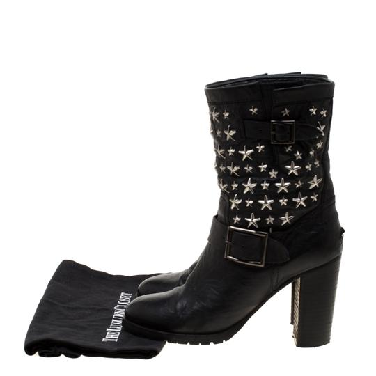 Jimmy Choo Studded Leather Detail Black Boots Image 7