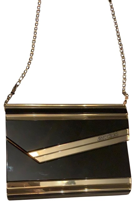 Item - Black and Gold Clutch Evening Cosmetic Bag