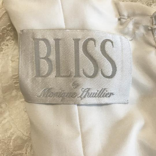 Monique Lhuillier Ivory Bliss #1208 Bl1208 Traditional Wedding Dress Size 6 (S) Image 11