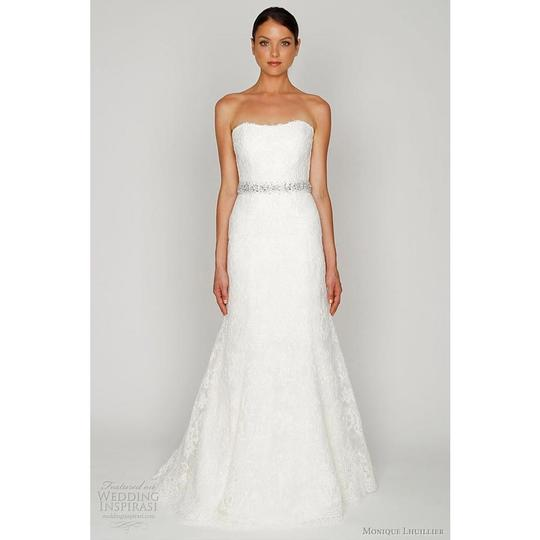 Monique Lhuillier Ivory Bliss #1208 Bl1208 Traditional Wedding Dress Size 6 (S) Image 2