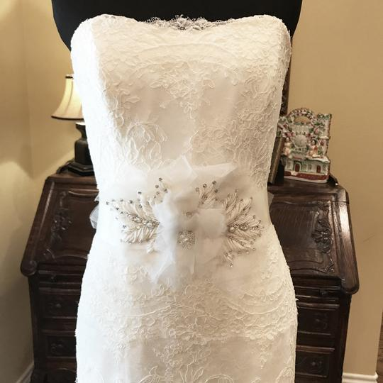 Monique Lhuillier Ivory Bliss #1208 Bl1208 Traditional Wedding Dress Size 6 (S) Image 3
