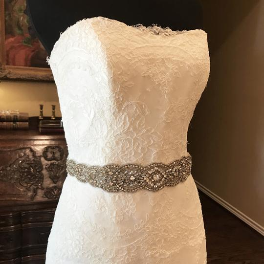 Monique Lhuillier Ivory Bliss #1208 Bl1208 Traditional Wedding Dress Size 6 (S) Image 4