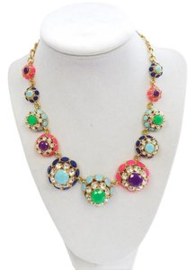 Kate Spade 098686658578 Puttin' on the Ritz Short Colorful Floral Necklace