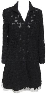 Chanel Knit Camellias Long Sleeve Floral Cardigan