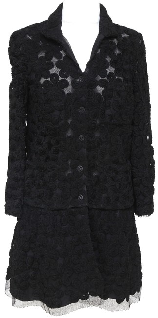 Preload https://img-static.tradesy.com/item/25959483/chanel-black-xs-knit-sweater-2pc-floral-camellia-lace-long-sleeve-cardigan-size-2-xs-0-0-650-650.jpg