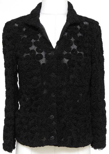 Chanel Knit Camellias Long Sleeve Floral Cardigan Image 1