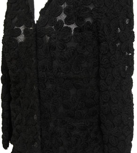 Chanel Knit Camellias Long Sleeve Floral Cardigan Image 6