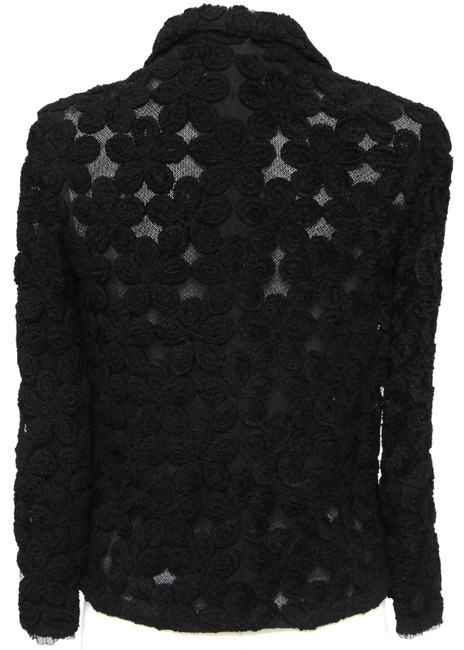 Chanel Knit Camellias Long Sleeve Floral Cardigan Image 7