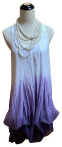 Sisley short dress White, lavender and plum on Tradesy