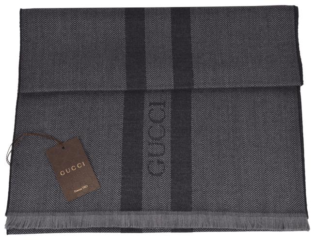 Item - Grey Ombre New 544628 Embroidered Logo Scarf/Wrap