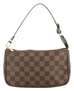 Louis Vuitton Pochette Damier Wristlet in brown
