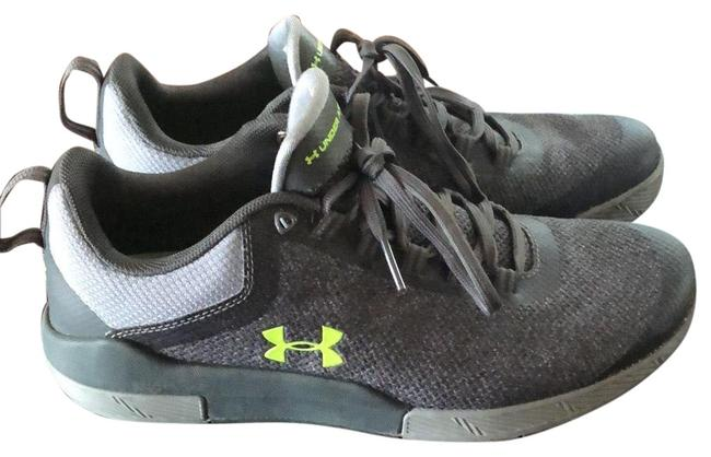 Item - Heather Gray with Neon Green Logo Sneakers Size US 8 Regular (M, B)