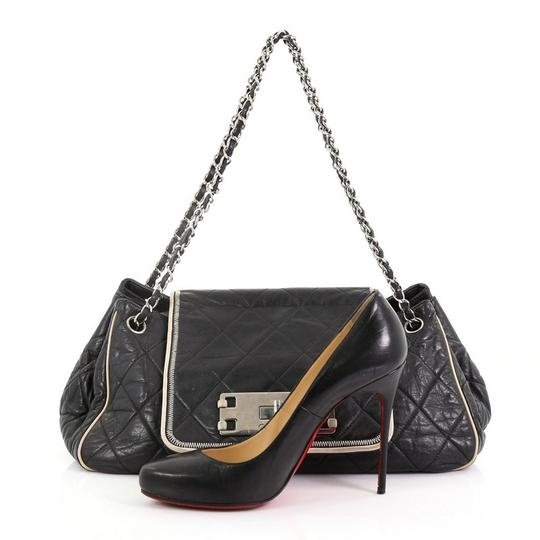 Chanel East West Flap Lambskin Shoulder Bag Image 1