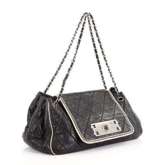 Chanel East West Flap Lambskin Shoulder Bag Image 2