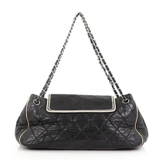 Chanel East West Flap Lambskin Shoulder Bag Image 3