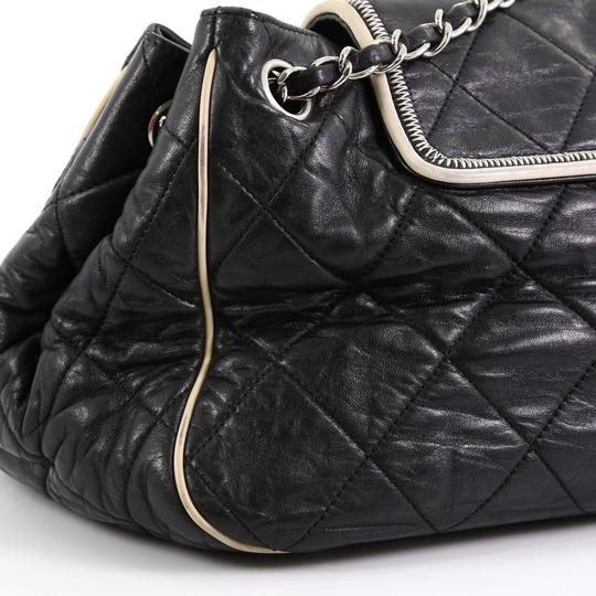 Chanel East West Flap Lambskin Shoulder Bag Image 6