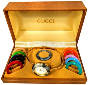 Gucci Vintage Gucci multibezel interchangeable bezel Swiss made watch