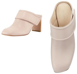 Rag & Bone Comfortable Summer Leather Round Toe Nude Pinkish Cream Mules
