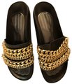 Kendall + Kylie Black and Gold Sandals