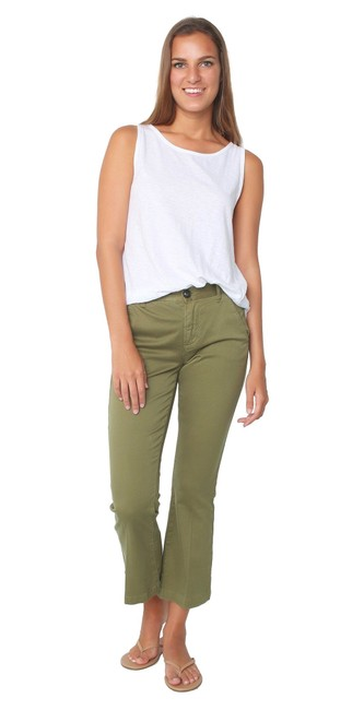 Item - Olive Army Green Le Boot Mini Crop Kick Flare Pants Size 0 (XS, 25)