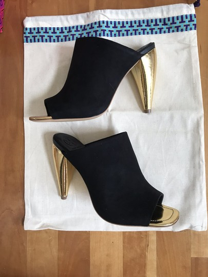 Tory Burch Black suede with gold heel Mules Image 10