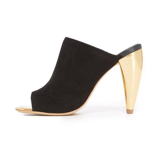 Tory Burch Black suede with gold heel Mules Image 2