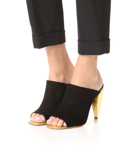 Tory Burch Black suede with gold heel Mules Image 4