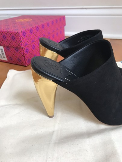 Tory Burch Black suede with gold heel Mules Image 5